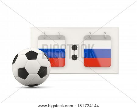 Flag Of Russia, Football With Scoreboard