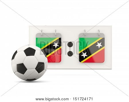 Flag Of Saint Kitts And Nevis, Football With Scoreboard