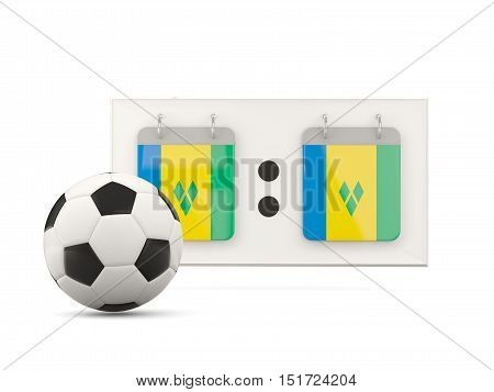 Flag Of Saint Vincent And The Grenadines, Football With Scoreboard
