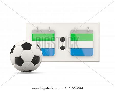 Flag Of Sierra Leone, Football With Scoreboard