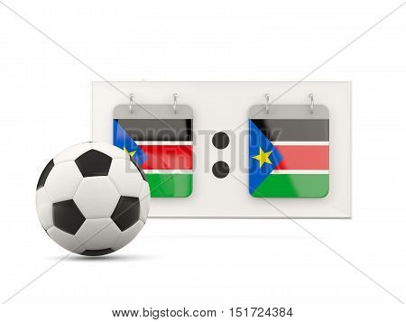 Flag Of South Sudan, Football With Scoreboard