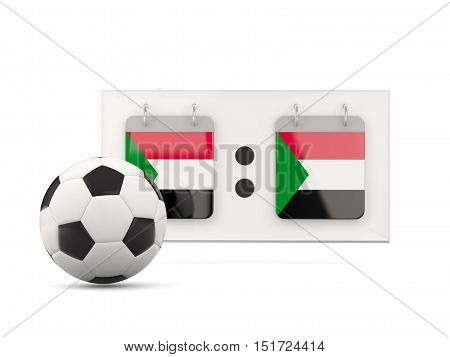 Flag Of Sudan, Football With Scoreboard