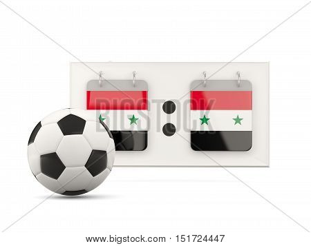 Flag Of Syria, Football With Scoreboard