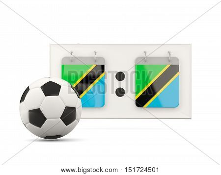 Flag Of Tanzania, Football With Scoreboard