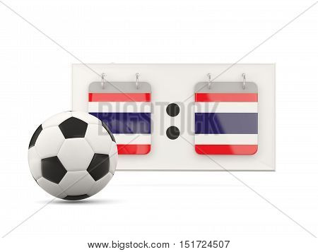 Flag Of Thailand, Football With Scoreboard