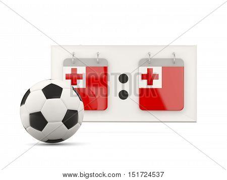 Flag Of Tonga, Football With Scoreboard