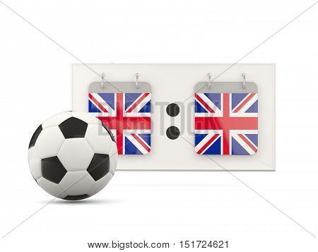 Flag Of United Kingdom, Football With Scoreboard