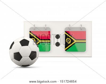 Flag Of Vanuatu, Football With Scoreboard