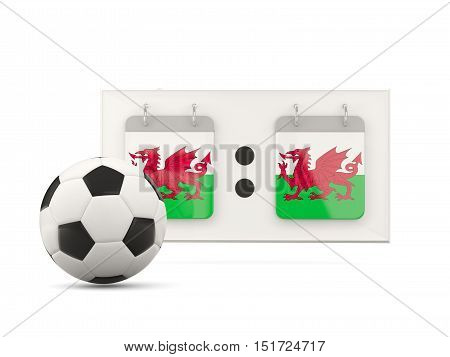 Flag Of Wales, Football With Scoreboard
