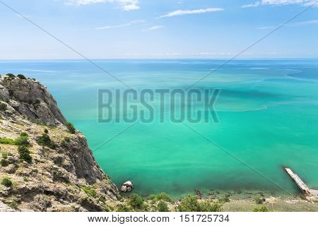 the turquoise waters of Crimea / photo bright summer trip to the Crimea