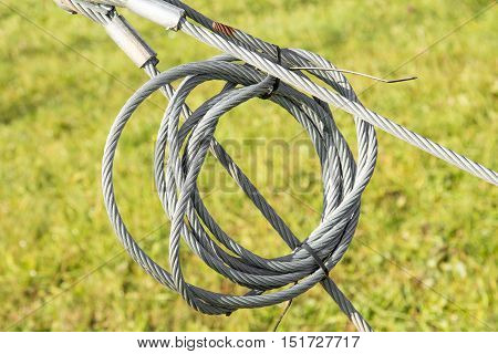 Industrial safety lock and interlock wire loop ropes