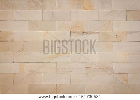 Stone brick material masonry beige architecture background