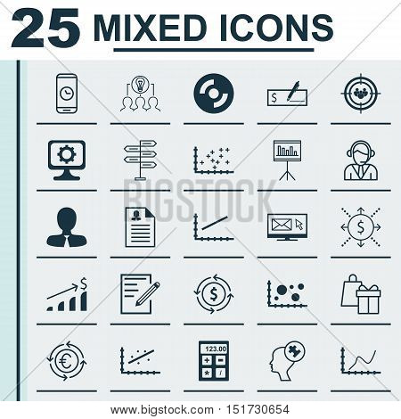 Set Of 25 Universal Icons On Female Application, Shopping, Pc And More Topics. Vector Icon Set Inclu