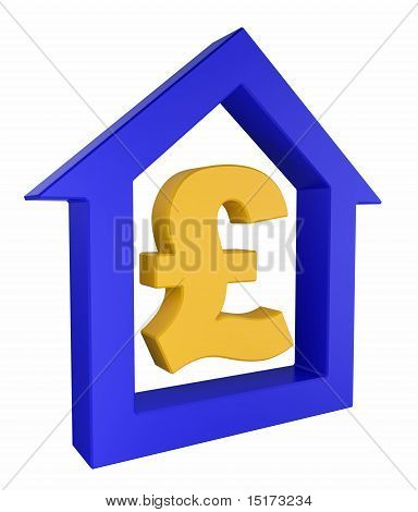 House Icon With Pound Symbol