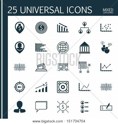 Set Of 25 Universal Icons On Keyword Marketing, Manager, Conference And More Topics. Vector Icon Set