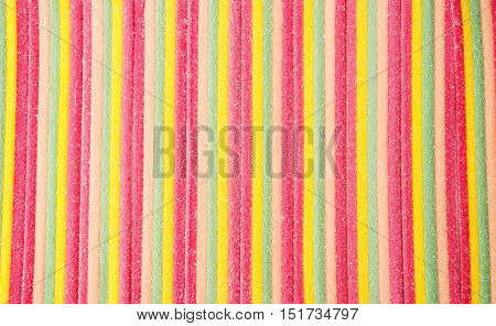 sweet jelly candies marmalade assorted multicolored close-up