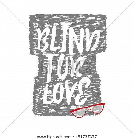 Blind for love with patch fashion pins t-shirt bag print