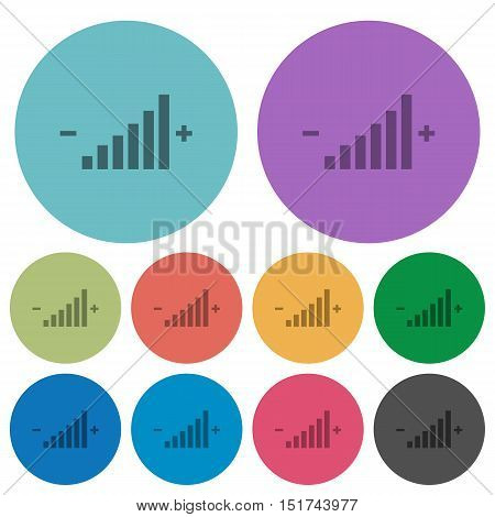 Color Control element flat icon set on round background.