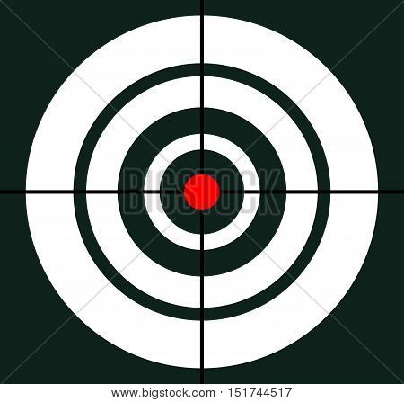 Background With Target, Reticle, Crosshair Symbol. Icon For Focal Point, Accuracy, Target Range, Pre