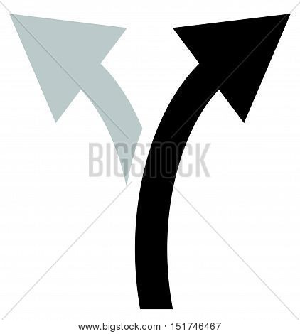 Two Way Arrow Symbol, Arrow Icon. Curved Arrows Left And Right
