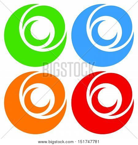 Logo, Icon Shape With 3 Circles - Spiral, Vortex Logo.