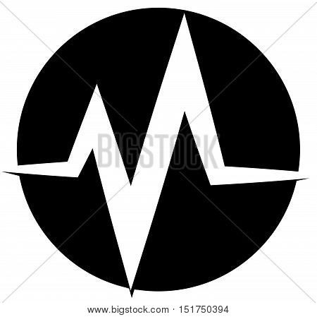Ecg, Ekg Line. Pulse, Beat, Heartbeat Icon