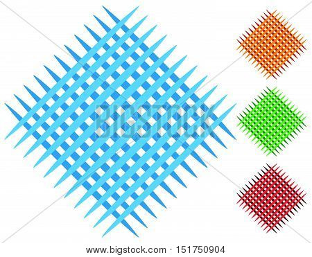 Grid, Mesh Patch Elements In 4 Color