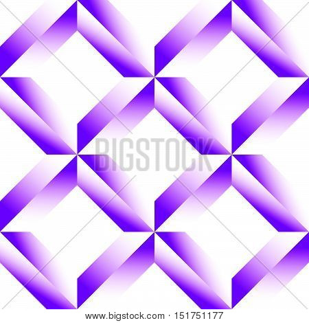 Faceted Grid, Mesh Seamless Pattern. Monochrome Geometric Lattice