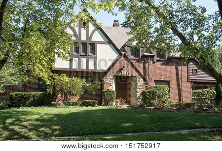 Wooded Old English Tudor Home