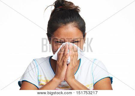 Girl With Flu Symptom
