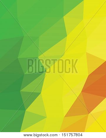 Multicolor green , yellow and red triangels. Multicolor origami style triangels.