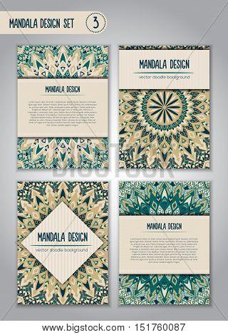Tribal Mandala Design Set. Vintage Decorative Elements.