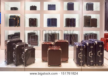 HONG KONG - JANUARY 26, 2016: a display window of a store at the Elements shopping mall. Elements is a large shopping mall located on 1 Austin Road West, Tsim Sha Tsui, Kowloon, Hong Kong