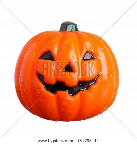 A halloween face isolated on white background.