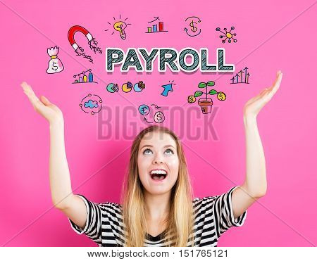 Payroll Concept With Young Woman