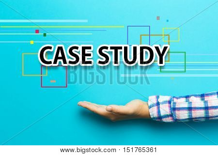 Case Study Concept With Hand