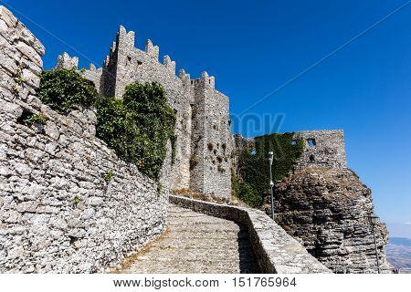 Medieval Venus Castle In Erice, Sicily