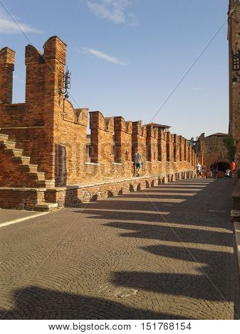 Castelvecchio Bridge Aka Scaliger Bridge In Verona
