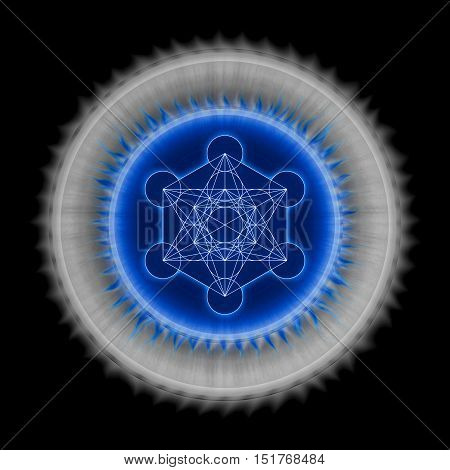 Illustration of archangel metatron symbol. Metatron's Cube.