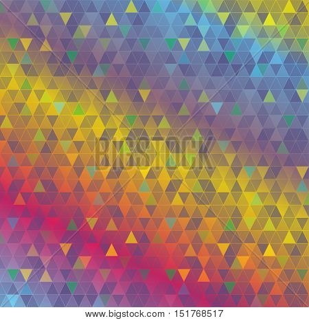 An abstract background made from colorful geometric triangles. Vector EPS 10 available.