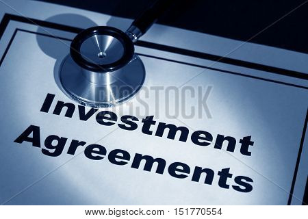 stethoscope and investment Agreement concept of contract issue