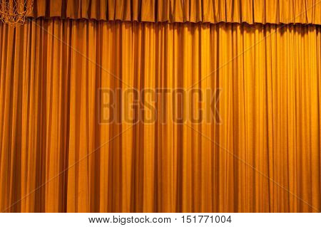 Theater yellow curtain pattern for background use