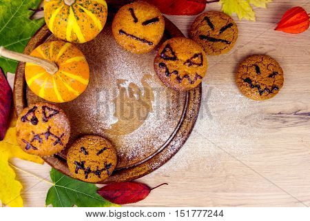 Halloween Sweets And Leafs