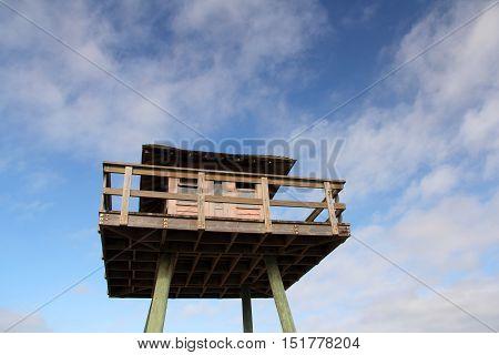 Historic World War II Submarine Watchtower in Ormond Beach, Florida