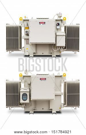 1500 Kva N2 Gas Sealed Radiator Fin Type Transformer