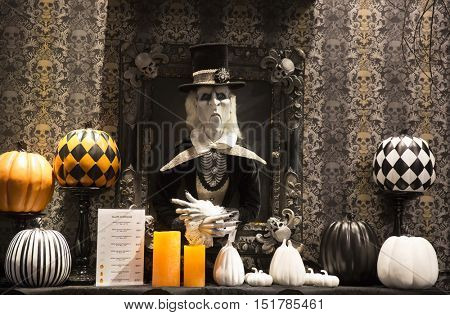 New York, USA - OKT 7th, 2016: The world famous department store Macy's Halloween Pop-Up Shop in New York City.