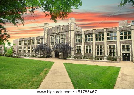 Historic Washington university buildings in Saint Louis