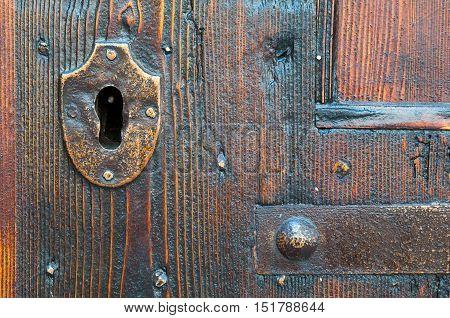 Old Metal Keyhole