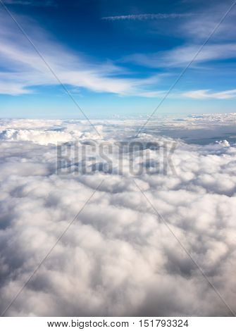 Flying High Above The Clouds