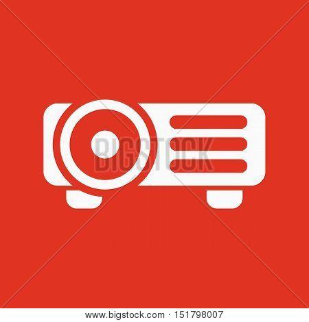 The projector icon. Presentation symbol. Flat Vector illustration